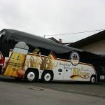 Fahrzeugbeschriftung Bitburger DFB Bus